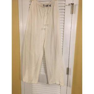 Liz Sport Off White Knit Pants Sz Small